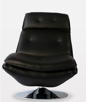 Black Leather Swivel Chair | Shop The World's Largest In Hazley Faux Leather Swivel Barrel Chairs (View 17 of 20)