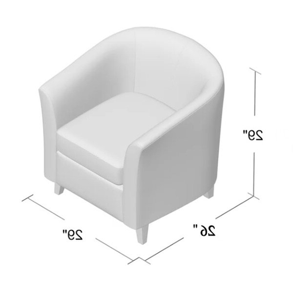 Blaithin Simple Single Barrel Chair In Blaithin Simple Single Barrel Chairs (View 3 of 20)
