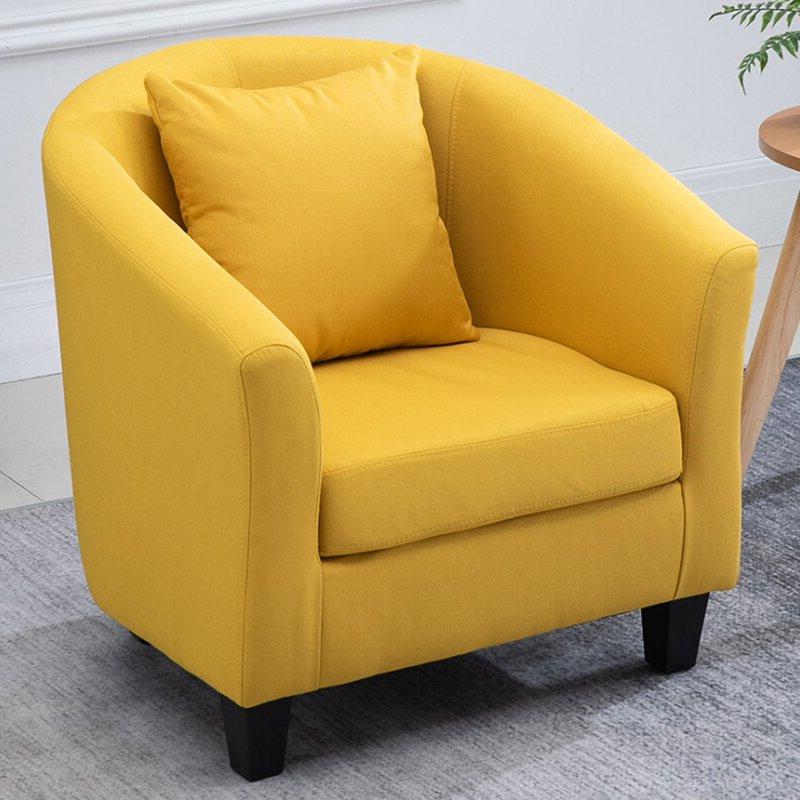 Blaithin Simple Single Barrel Chair Throughout Blaithin Simple Single Barrel Chairs (View 2 of 20)