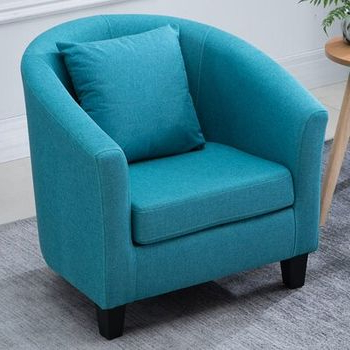 Blaithin Simple Single Barrel Chair – Wayfair With Blaithin Simple Single Barrel Chairs (View 7 of 20)
