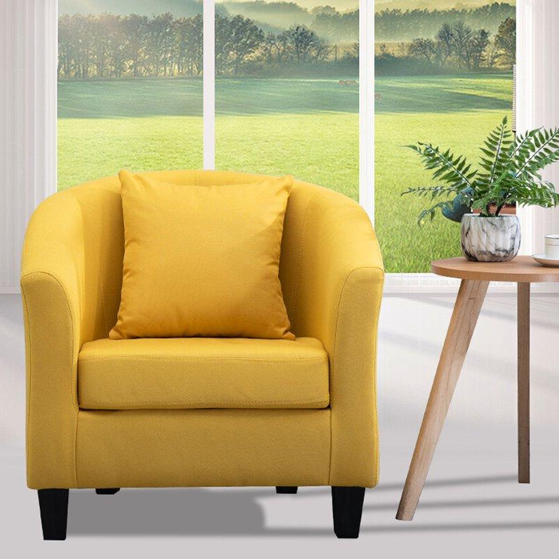 Blaithin Simple Single Barrel Chair With Regard To Blaithin Simple Single Barrel Chairs (View 5 of 20)