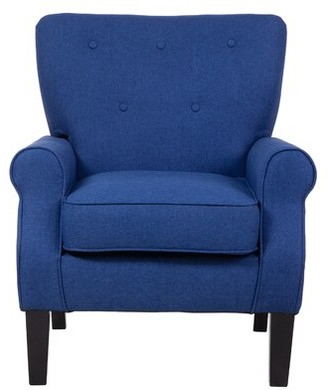 Blue Tufted Chair | Shop The World's Largest Collection Of In Belz Tufted Polyester Armchairs (View 15 of 20)