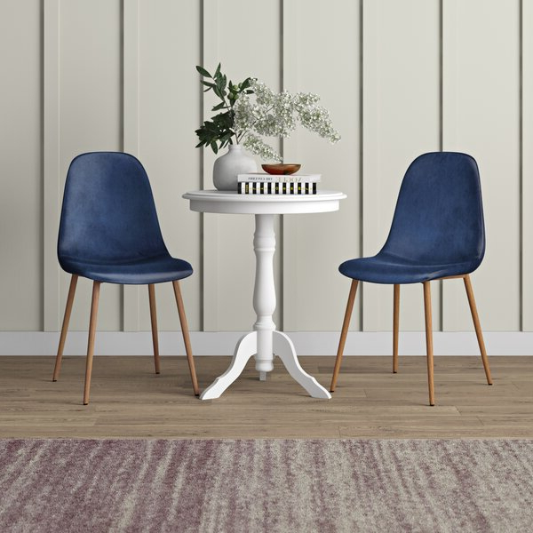 Blue Tufted Dining Chair Inside Bob Stripe Upholstered Dining Chairs (set Of 2) (View 15 of 20)