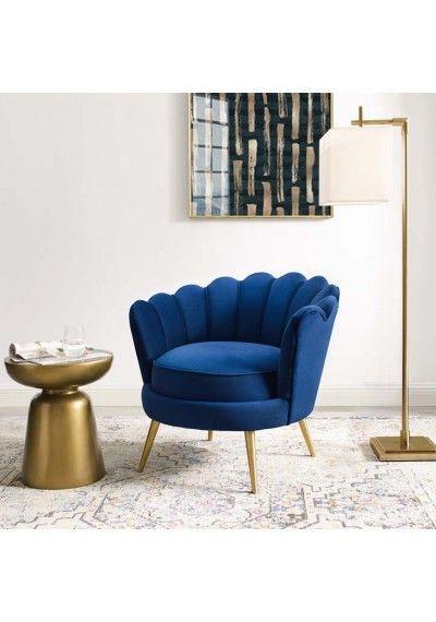 Blue Velvet Vertical Channel Tufted Sofa | Blue Velvet For Hutchinsen Polyester Blend Armchairs (View 20 of 20)