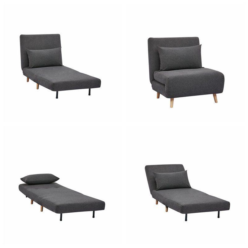 Bolen Convertible Chair In 2020 | Futon Chair, Furniture, Chair Intended For Bolen Convertible Chairs (View 3 of 20)
