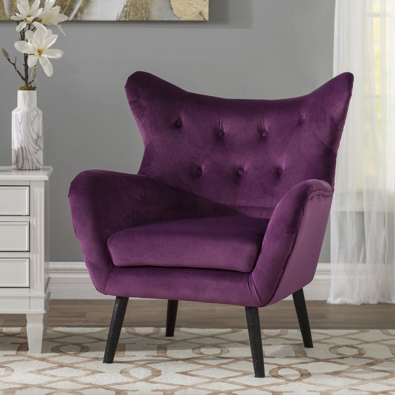 Bouck 21'' Wingback Chair | Wingback Chair, Purple Accent Regarding Bouck Wingback Chairs (View 8 of 20)