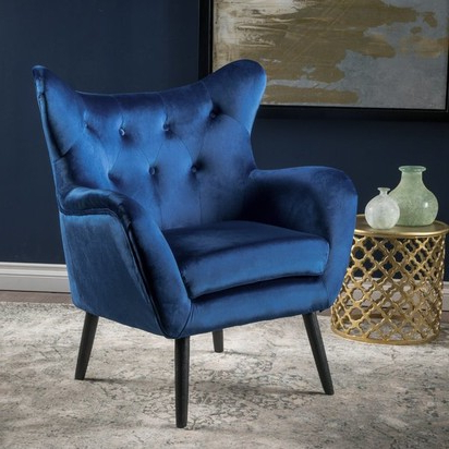 Bouck Wingback Chair – Navy Blue – Blueprint Intended For Bouck Wingback Chairs (View 11 of 20)