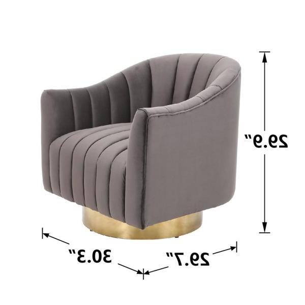 Boyel Living Velvet Electroplate Living Room Swivel Barrel Regarding Danow Polyester Barrel Chairs (View 16 of 20)