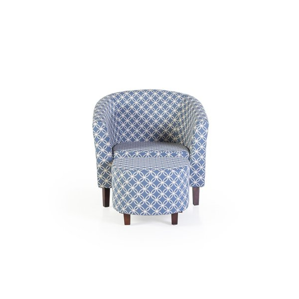 Featured Photo of Brames Barrel Chair And Ottoman Sets
