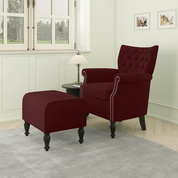 Brassfield Armchair And Ottoman With Brames Barrel Chair And Ottoman Sets (View 11 of 20)