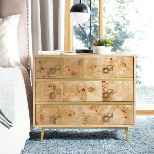Bronaugh 3 Drawer Dresser   Allmodern   Furniture, 3 Drawer For Bronaugh Barrel Chairs (View 16 of 20)