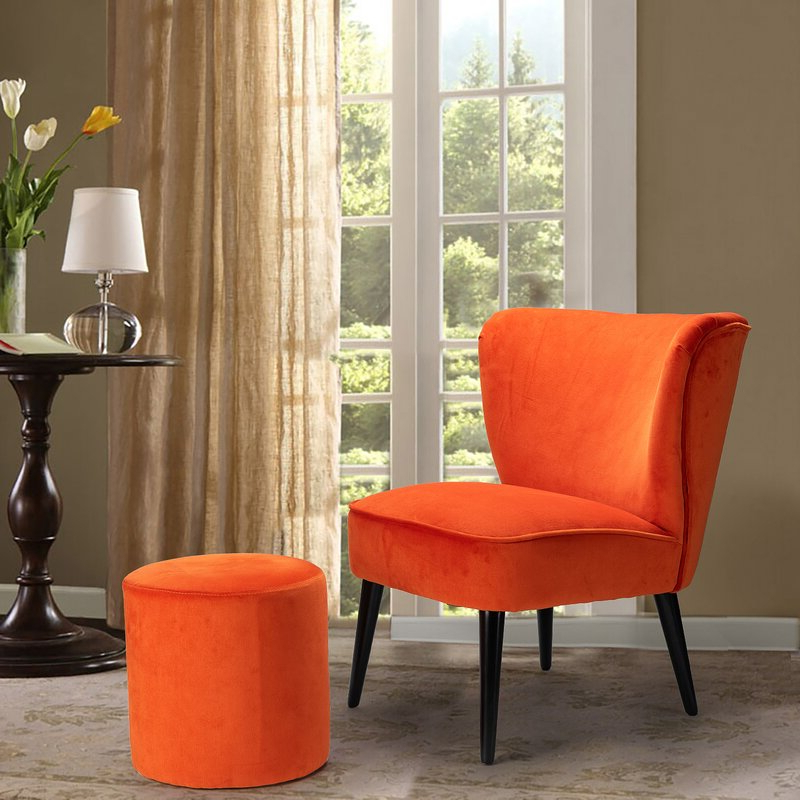 Brookneal Slipper Chair And Ottoman With Regard To Goodyear Slipper Chairs (View 14 of 20)