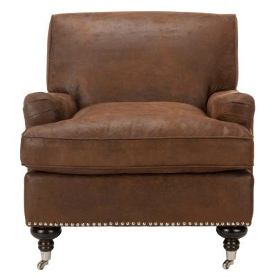 Brown – Accent Chairs – Chairs – The Home Depot Intended For Lucea Faux Leather Barrel Chairs And Ottoman (View 10 of 20)