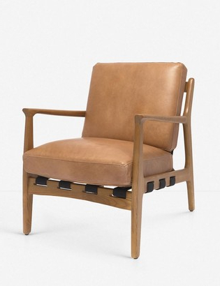 Brown Leather Accent Chair | Shop The World's Largest In Coomer Faux Leather Barrel Chairs (View 17 of 20)