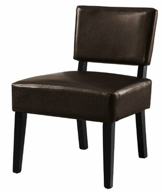 Brown Leather Accent Chair | Shop The World's Largest Inside Coomer Faux Leather Barrel Chairs (View 11 of 20)