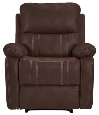 Brown Leather Accent Chair | Shop The World's Largest Intended For Coomer Faux Leather Barrel Chairs (View 20 of 20)