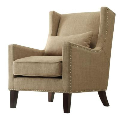 Brown – Tan – Accent Chairs – Chairs – The Home Depot In Dallin Arm Chairs (View 16 of 20)