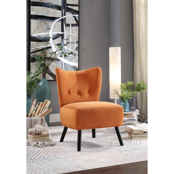 Burnt Orange Slipper Chair With Aniruddha Slipper Chairs (View 6 of 20)