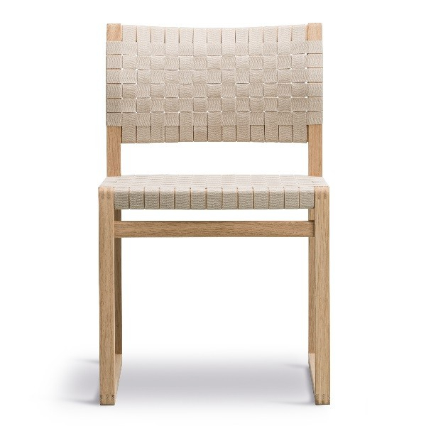Buy The Fredericia Bm61 Chair Linen Webbing At Questo Design Intended For Chiles Linen Side Chairs (View 12 of 20)