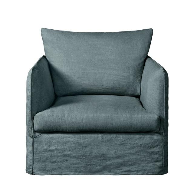 Cadeirão Fixo Neo Chiquito, Linho Enrugado Inside Gallin Wingback Chairs (View 19 of 20)