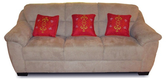 Caldwell Three Seater Sofa In Brown Pertaining To Caldwell Armchairs (View 13 of 20)
