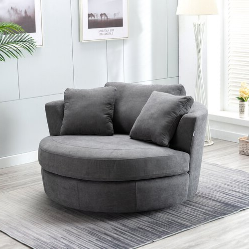 Caprisha Chaise Lounge Regarding Annegret Faux Leather Barrel Chair And Ottoman Sets (View 17 of 20)