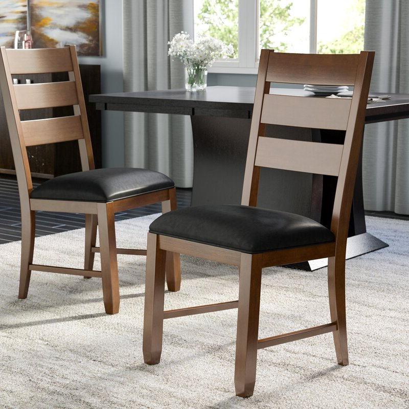 Caracara Ladderback Upholstered Side Chair In Trent Side Chairs (View 11 of 20)