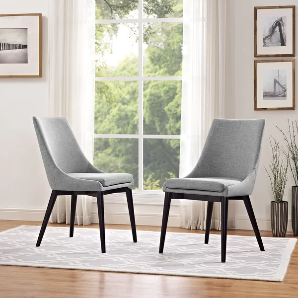 Carlton Wood Leg Upholstered Dining Chair | Side Chairs With Regard To Carlton Wood Leg Upholstered Dining Chairs (View 7 of 20)