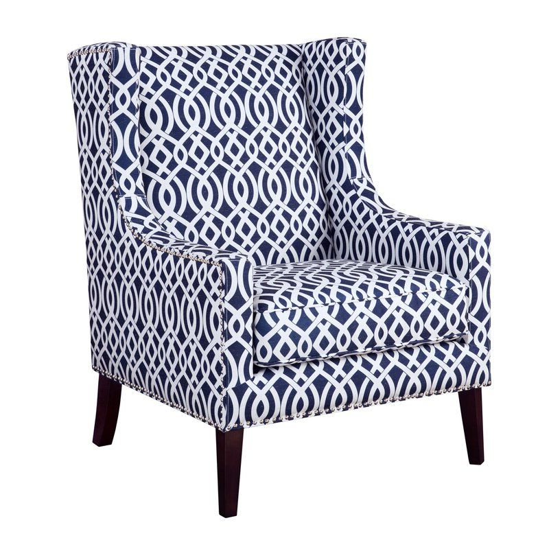 Chagnon Wingback Chair | Blue Accent Chairs, Wing Chair Inside Chagnon Wingback Chairs (View 12 of 20)