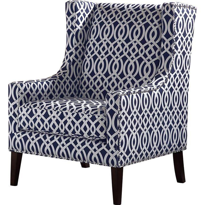 Chagnon Wingback Chair | Furniture, Printed Accent Chairs Throughout Chagnon Wingback Chairs (View 18 of 20)
