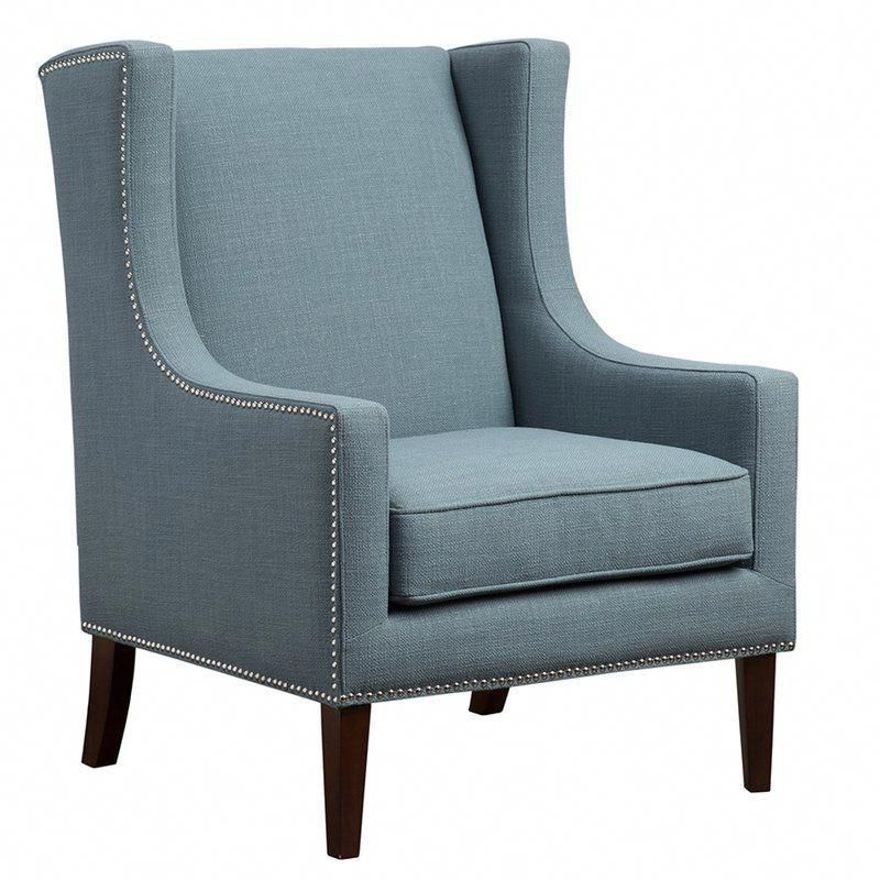 Chagnon Wingback Chair In 2020 | Blue Accent Chairs With Chagnon Wingback Chairs (View 2 of 20)
