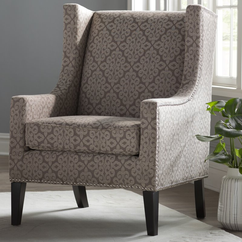Chagnon Wingback Chair In Chagnon Wingback Chairs (View 11 of 20)