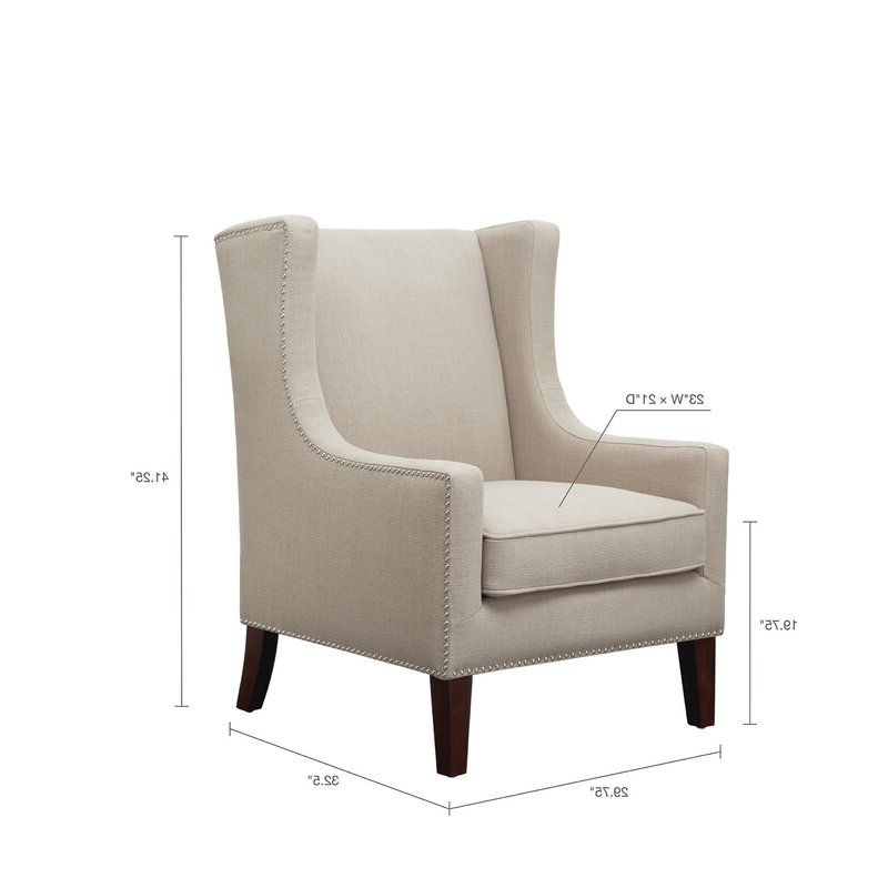 Chagnon Wingback Chair With Chagnon Wingback Chairs (View 9 of 20)
