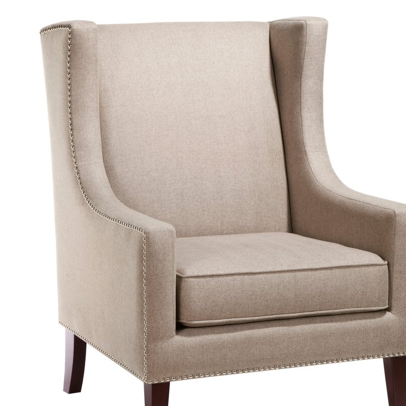 Chagnon Wingback Chair With Regard To Chagnon Wingback Chairs (View 7 of 20)