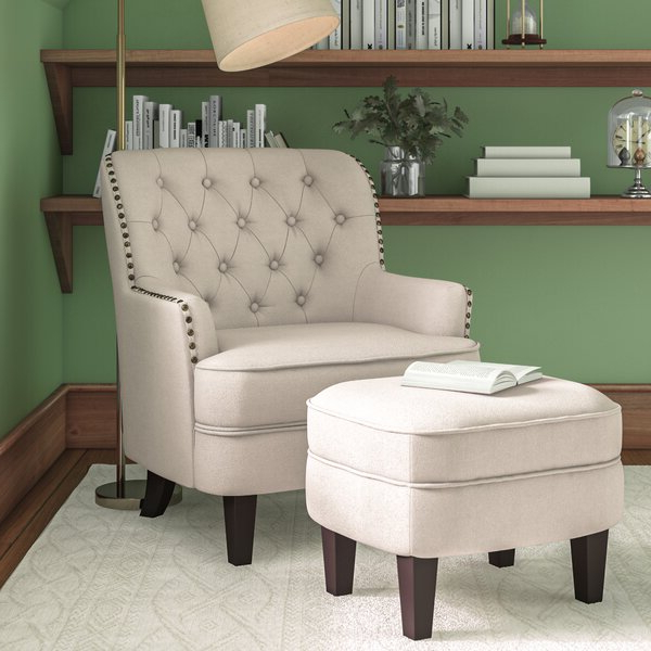 Chair And Ottoman Sale Regarding Hallsville Performance Velvet Armchairs And Ottoman (View 19 of 20)