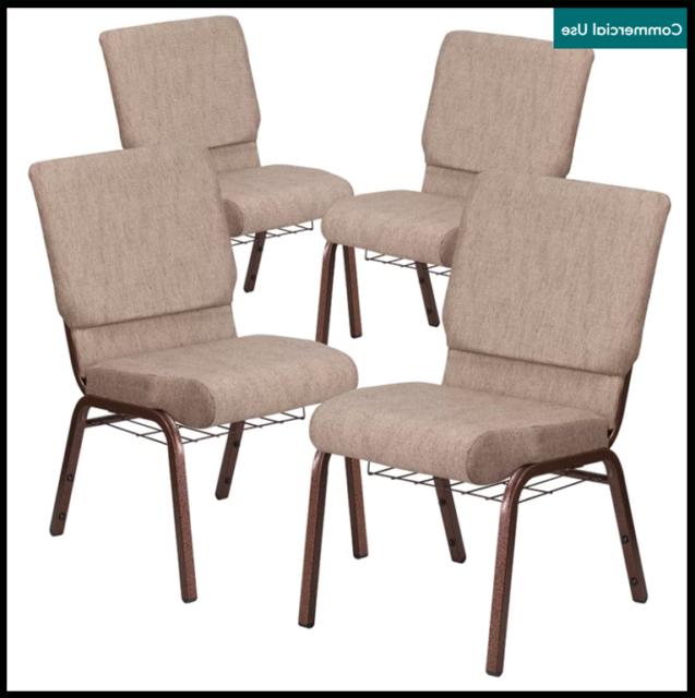 Chair Stackable Fabric Ebern Designs Set Of 4 Pertaining To Longoria Convertible Chairs (View 9 of 20)