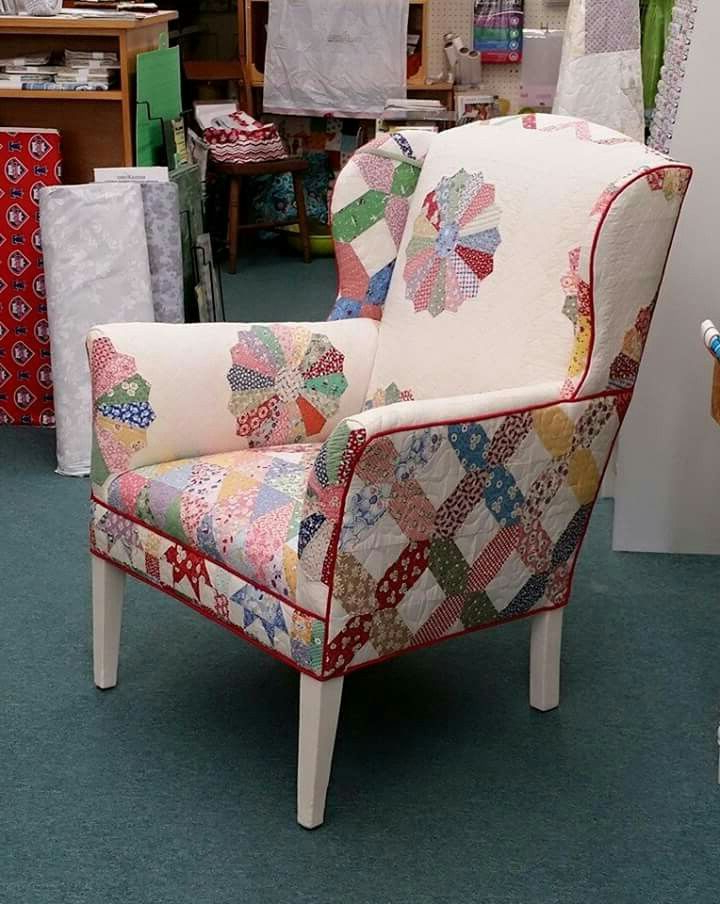 Chair Upholstered With Quilts | Upholstered Furniture With Regard To Sweetwater Wingback Chairs (View 14 of 20)