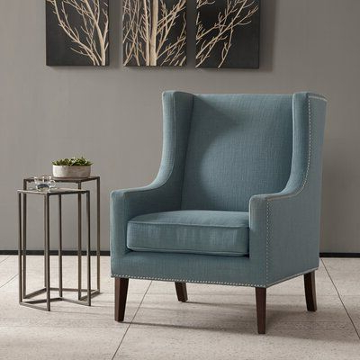 Charlton Home Chagnon Wingback Chair Upholstery Color: Slate For Chagnon Wingback Chairs (View 10 of 20)