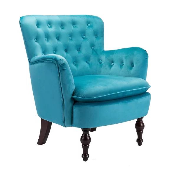 Charlton Home Didonato Velvet Tufted Upholstered Armchair With Didonato Tufted Velvet Armchairs (View 2 of 20)