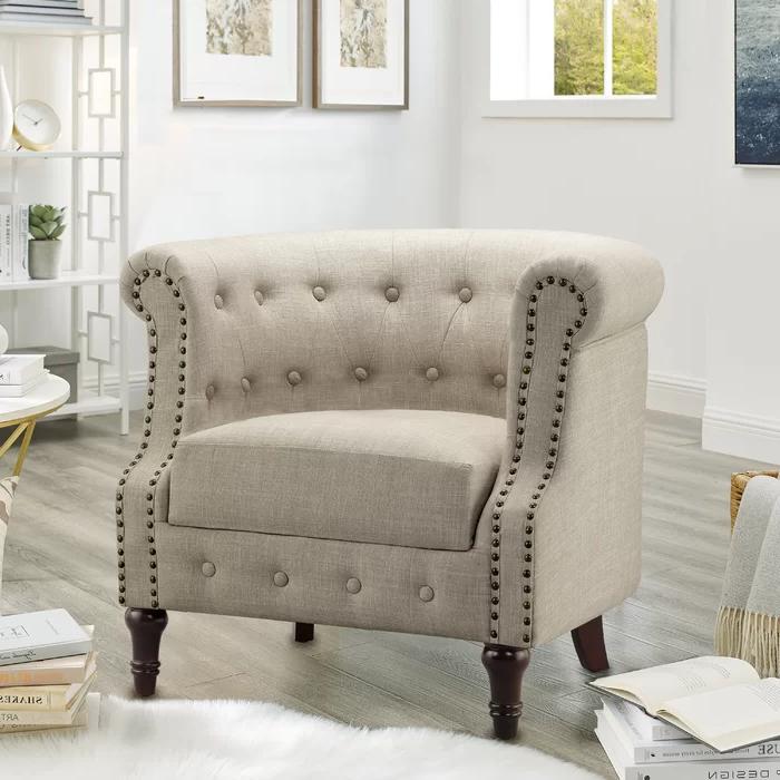 Charlton Home® Kjellfrid Chesterfield Chair & Reviews Throughout Kjellfrid Chesterfield Chairs (View 3 of 20)