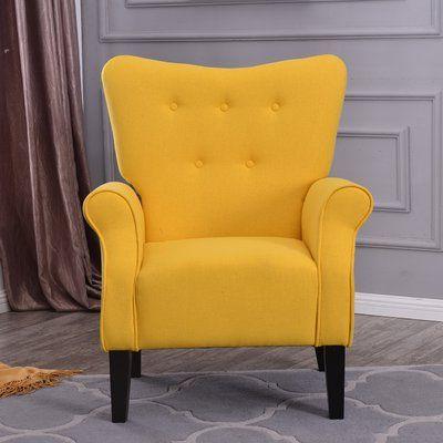 Charlton Home Naumann Roll Arm Linen Wood Leg Club Chair Pertaining To Louisburg Armchairs (View 11 of 20)