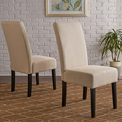 Christopher Knight Home Pertica Fabric Dining Chair, Beige Within Aime Upholstered Parsons Chairs In Beige (View 16 of 20)