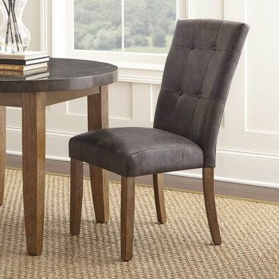 Chugwater Tufted Upholstered Side Chair Upholstery Color: Gray In Bob Stripe Upholstered Dining Chairs (set Of 2) (View 8 of 20)