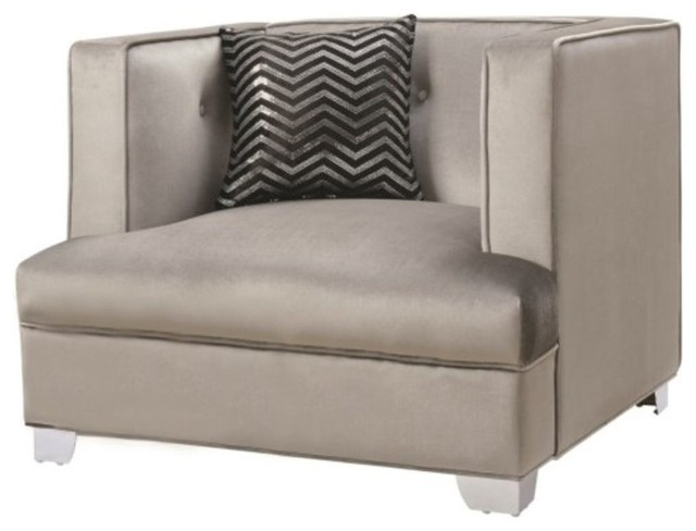 Coaster Caldwell Contemporary Upholstered Chair, Silver Intended For Caldwell Armchairs (View 5 of 20)