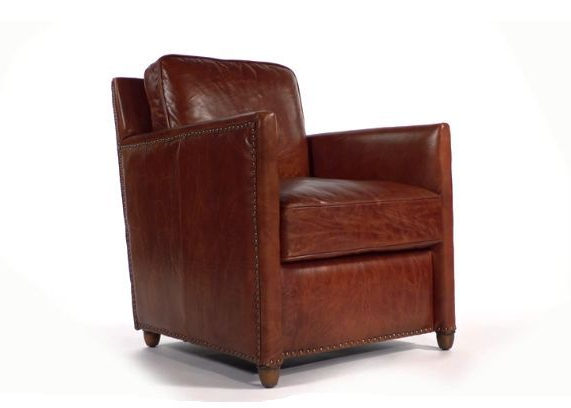 Cognac Leather Club Chair Throughout Montenegro Faux Leather Club Chairs (View 18 of 20)