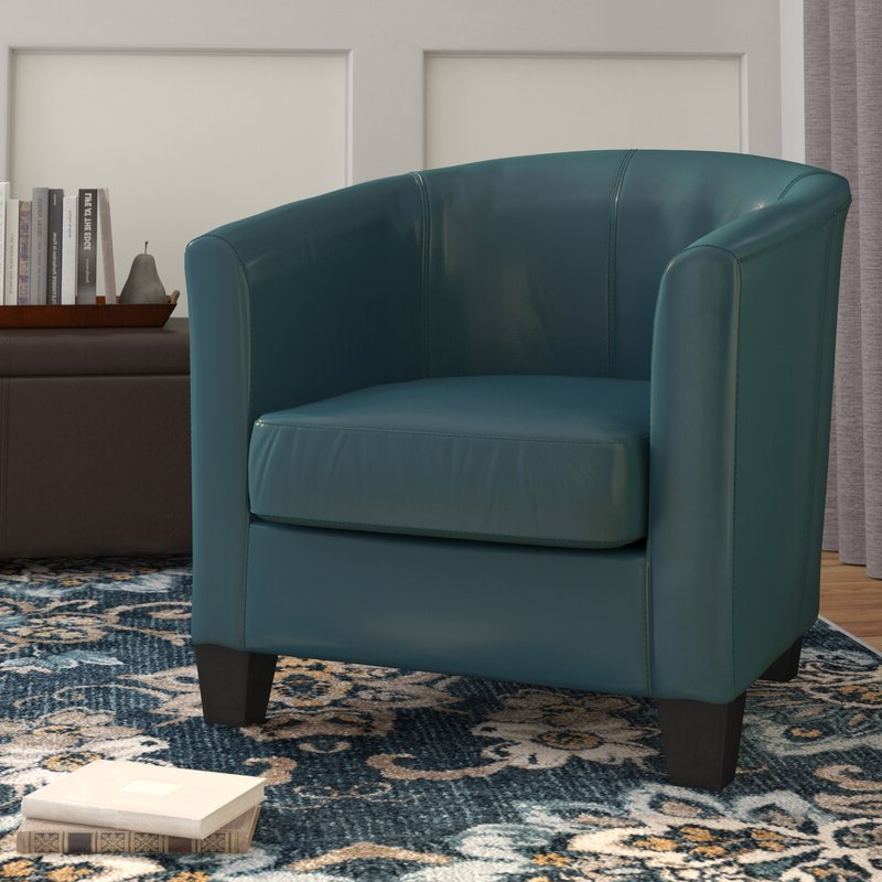 """Colden 30"""" W Faux Leather Barrel Chair With Regard To Filton Barrel Chairs (View 10 of 20)"""