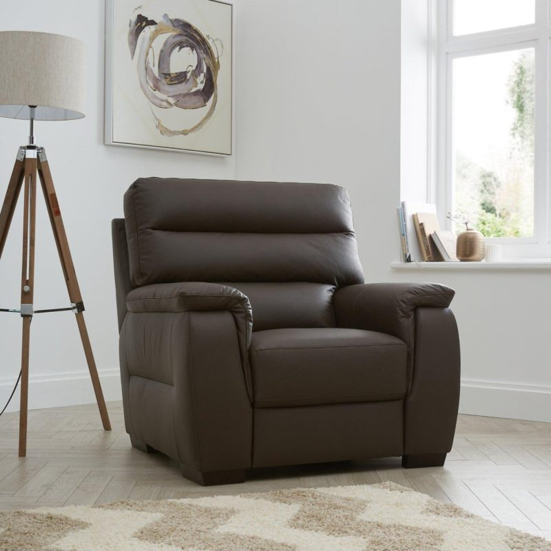 Columbus Leather Sofas – Chocolate & Black – The Furniture Co For Columbus Armchairs (View 5 of 20)