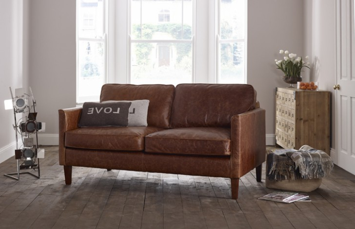 Columbus Small Leather Sofa | Leather Sofas Pertaining To Columbus Armchairs (View 15 of 20)