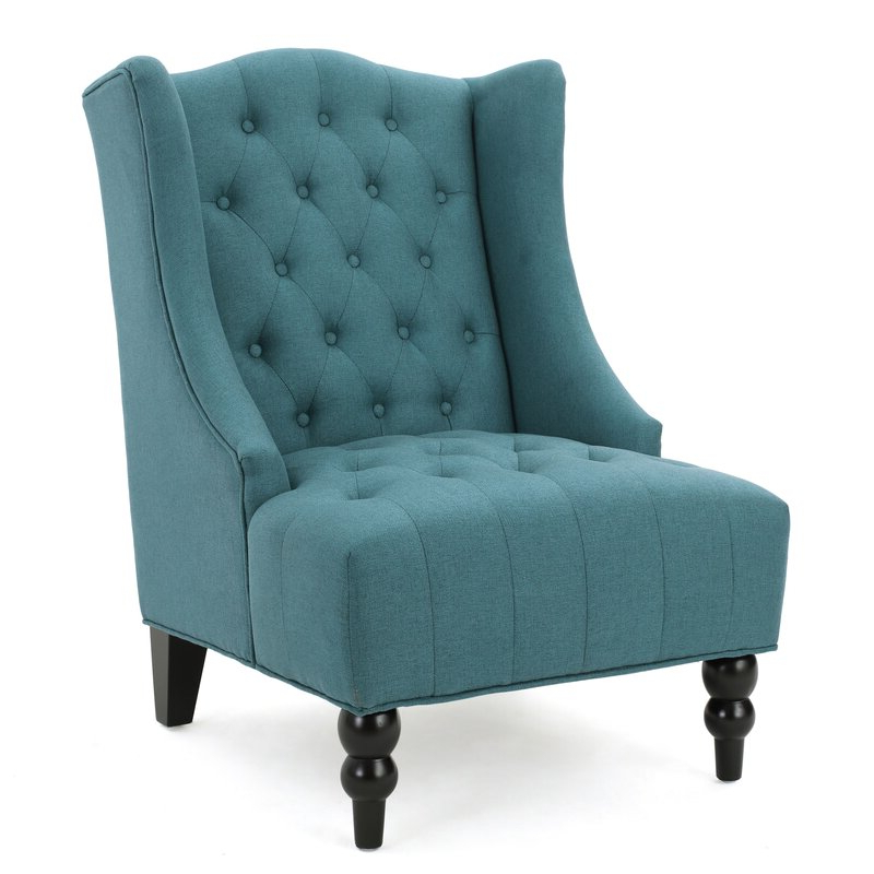 """Contreras 21"""" Side Chair In Allis Tufted Polyester Blend Wingback Chairs (View 9 of 20)"""