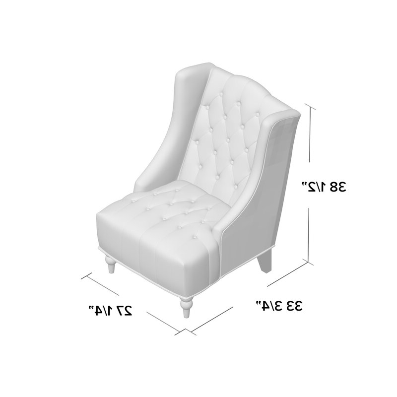 """Contreras 21"""" Wingback Chair For Allis Tufted Polyester Blend Wingback Chairs (View 10 of 20)"""